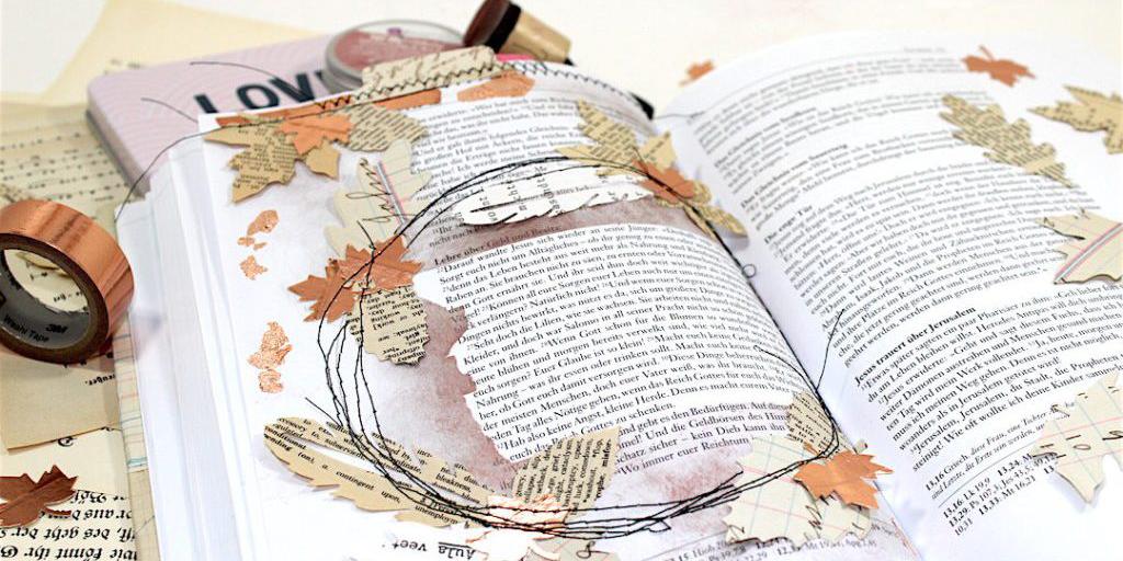 Bible Art Journaling im Herbst